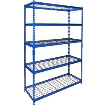 5 Tiers 350kgs Heavy Duty Warehouse Storage Steel Green Epoxy Coated Wire Shelving