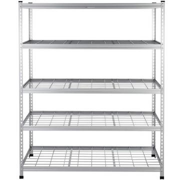NSF 4 Tiers K/D Packing Heavy Duty Display Wire Rack Stainless Steel Storage Shelves