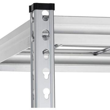 Carts, ESD Wire Shelf Chrome Stainless Steel Storage Shelf