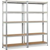 "Restroom Bathroom Supplies Chromed Steel Wire Storage Shelving Unit (30"" W X 14"" D X 60"" H)"