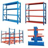 Fas-060 Modern Industrial Shelves Adjustable Metal Racks Storage for Shop Iron Shelf