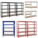 Industrial Warehouse Storage Steel Slotted Angle Light Duty Rack Shelf Shelving